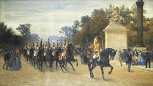 PAUL-ALBERT GIRARD (1839-1920) - Tableau Le peloton des étendards des cent-gardes