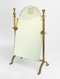 Miroir En Fer Forgé Doré, Néoclassique Des Années 1960, Mid Century Art