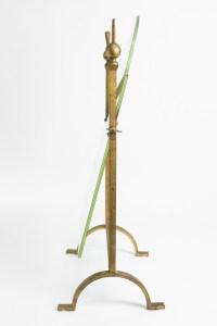 Mirror Golden Wrought Iron, Neoclassical 1960s, Mid Century Art