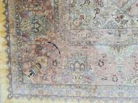 Grand Tapis Ghoum Tout Soie Signé atelier impérial epoque du shah - Iran Vers 1970