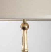 1960s Gilded Brass Bamboo Floor lamp, Maison Bagues