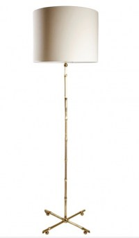 1960s Gilded Brass Bamboo Floor lamp, Maison Bagues