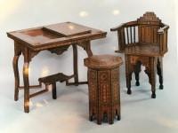 Salon Syrien, composé de 4 fauteuils,un guéridon et une table à jeux. Réf: 310.