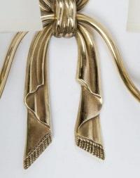 """Paire d'Appliques """"Ruban"""" Bronze Lucien Gau 1960"""