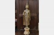 Bouddha Laos en bois doré fin XVIIIème siècle