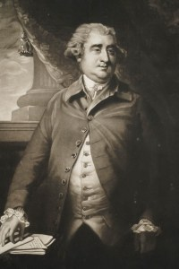 English Engraving from the 19th Century by John Jones. The Portrait of James Fose after Sir Joshua Reynolds. 1792