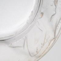 """Cendrier """"Anthéor"""" verre blanc de René LALIQUE"""