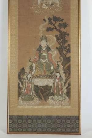 Peinture encadrée de Fugen Bosatsu