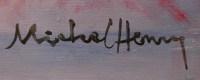 MICHEL HENRY TABLEAU 20 è SIECLE ANEMONES DE FRANCE HUILE SUR TOILE SIGNEE ART MODERNE