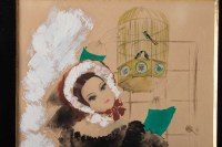 Watercolor, Belle Epoque, 1900-1920, Signed Renée Michèle, Paris