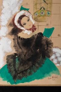 Aquarelle, Belle Epoque, 1900-1920, Signée Renée Michèle, Paris