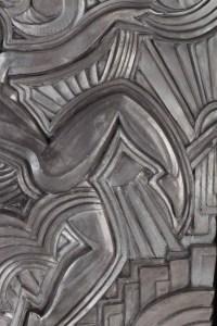 Sculpture Art Déco en plâtre patiné gris clair attribuée à Maurice Pico (1900-1977)