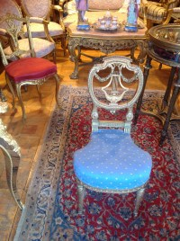 Chaise Lyre Napoleon lll