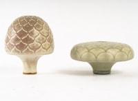 Karl Scheid et Ursula Scheid - Porcelaines de forme végétale. Années 70