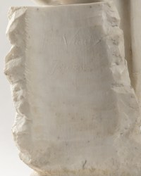 An Italian Late 19th Century Orientaliste White Carrara Marble Sculpture by Fernando VICCHI.