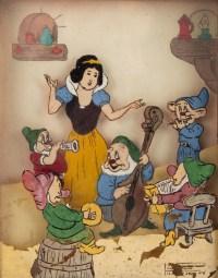 Tableaux Blanche Neige et les 7 Nains Louis Fittaluga 1946