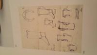 Bottes cavalière formant chopes par Pol Chambost ( 1906 - 1983 ), céramique année 50