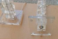 1970/80' Paire de Lampes en Verre de  Style Design