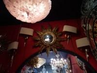 1950/70 ' Miroir soleil Convexe, Bois Doré Diamètre 68 cm