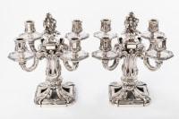 Ed. TETARD - Importante paire de candélabres en argent XIXe siècle
