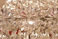 Lustre corbeille en cristal fin 19e