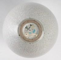 Pierre Lemaître - 2 vases en céramique émaillée blanc craquelé. Vers 1980