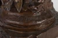 """""""Fleurs d'amour"""" Bronze signé Auguste DEWEVER"""