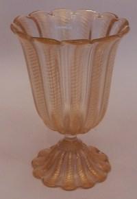 1970' Vase Cristal Murano Style Barovier i Toso