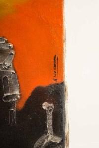 Paul Ackerman (1908-1981) Composition Huile Sur Toile.