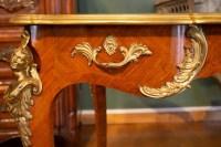 Bureau Plat De Style Louis XV, Signé Sormani, XIXème Siècle.