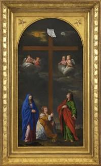 Adoration de la Croix – Ecole bolonaise, disciple de Francesco Albani.