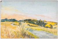 Paysage d'un Chemin Fleuri, XX siècle.
