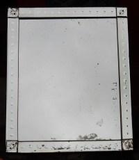 1900' Miroir Venise A Bulles 120 X 100 cm