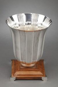 Orfèvre LAPPARRA - Vase en argent massif époque ART DECO