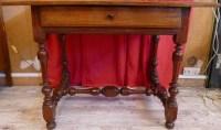 Table fin 17ème siècle en gaïac et acajou