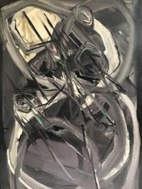"""ALDINE Peinture contemporaine XXème siècle """"Le Hibou"""" Huile sur toile signée"""