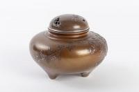Brûle-parfum japonais tripode en bronze
