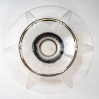 """Carafe """"Sélestat"""" verre blanc et verre noir de René LALIQUE"""