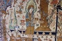 Tapis Ghoum Lajevardi en Laine Et Soie - Iran Vers 1935 XXème