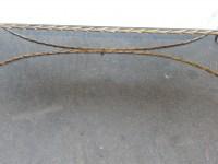 1950/70' Table Basse en Bronze Doré Décor Palmier Maison Charles 112 X 47 cm Double Montant
