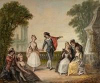 Paire de tableaux signé Pigale fin XIXème siècle
