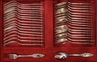 Ménagère en argent massif 188 pièces par PUIFORCAT  (RESERVEE)