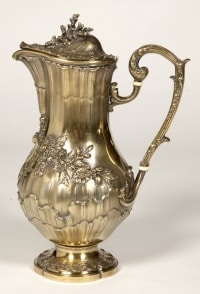 19th century vermeil wine pitcher by Maison ODIOT