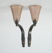 """René Lalique & Ducoré - Paire d'appliques """"Cytise"""""""