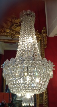 Lustre corbeille Baccarat