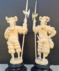 Paire De Lansquenets En Cuirasse - Allemagne XIXème