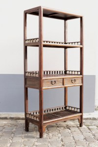 Meuble étagères chinois de style rustique