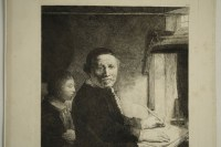 Steel engraving from the 19th Century representing a painting of Rembrandt by Franceso Novesllsine