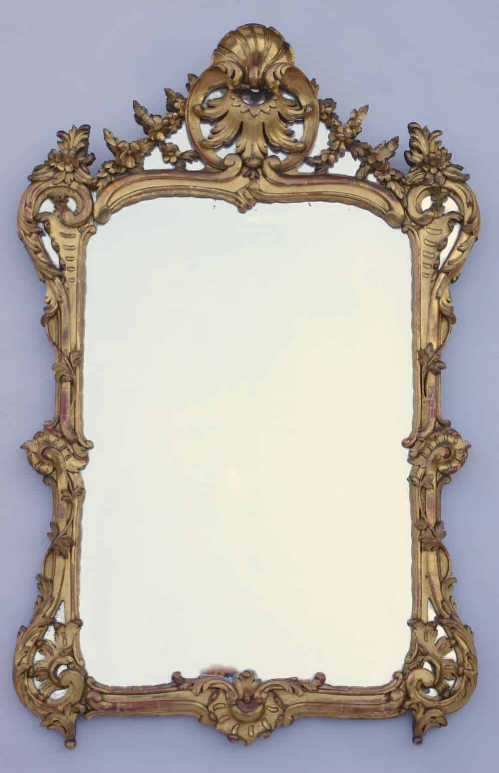 Le march biron miroir louis xv parecloses de bois dor for Miroir louis xv