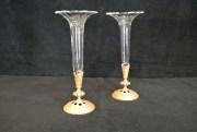 Soliflore en cristal et bronze du 19ème siècle